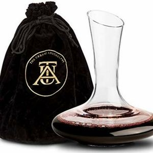 Wine decanter  holds 60 oz hand blown glass